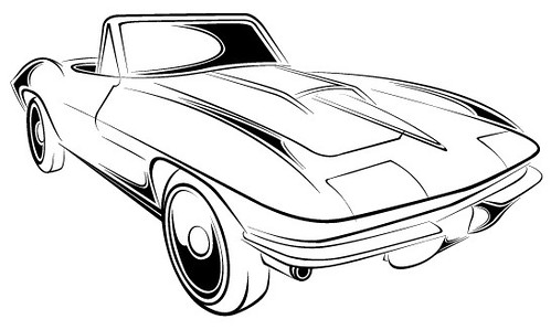 easy car sketches