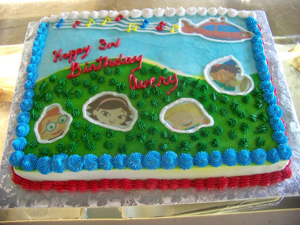 Miraculous Little Einstein Birthday Cake A 1 2 Sheet White Cake Cover Flickr Funny Birthday Cards Online Alyptdamsfinfo