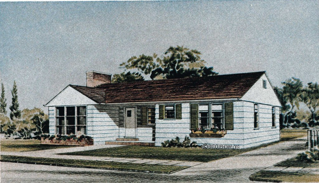 The Fairmount 1950s Ranch Style Home Liberty Homes Kit