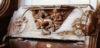 Boston, St. Botolph's church, misericord | by groenling