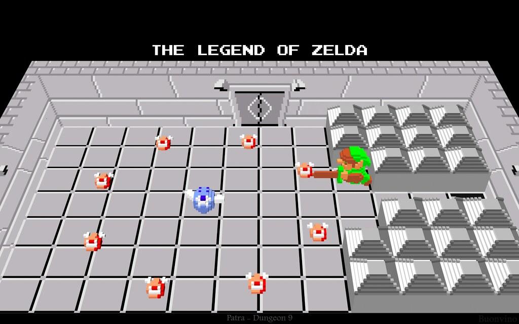 Legend Of Zelda - Dungeon 9 | My third 3-D dungeon scene