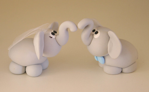 Elephant Wedding Cake Topper | by fliepsiebieps_