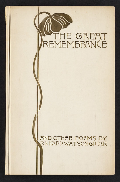 Poetry Book Cover Generator : The great remembrance and other poems front cover flickr