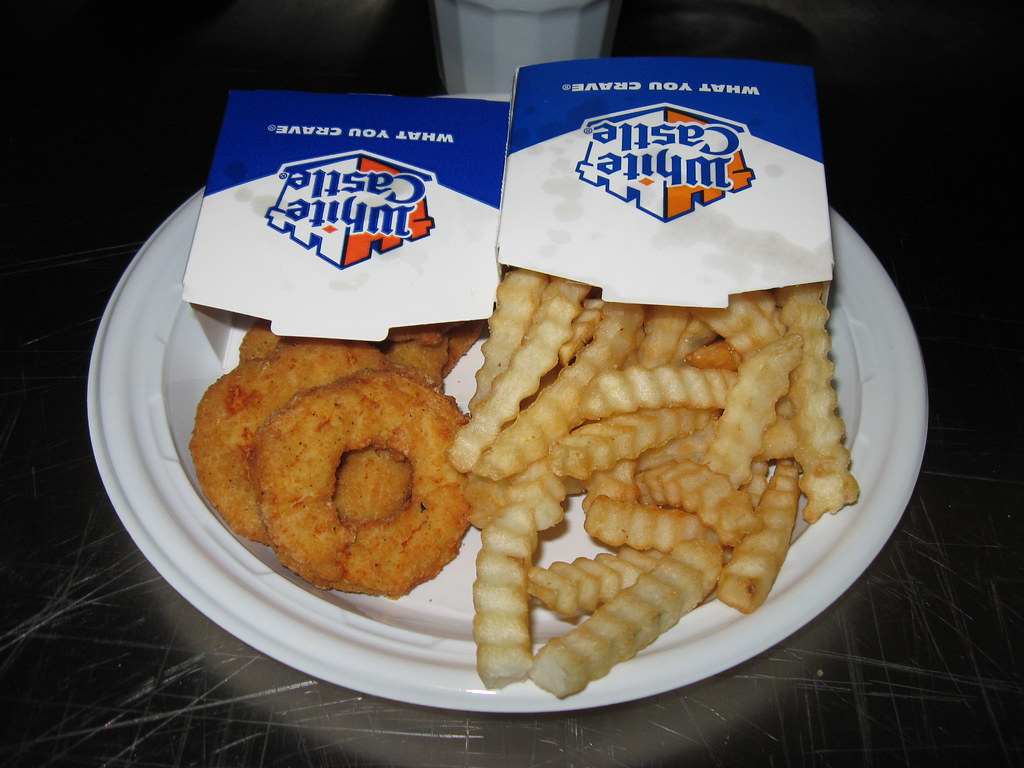 white castle chicken rings fries my white