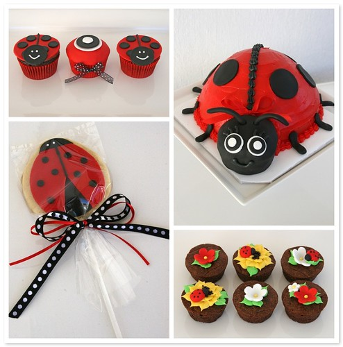 ladybug baby shower treats cupcakes cake cookie favors a