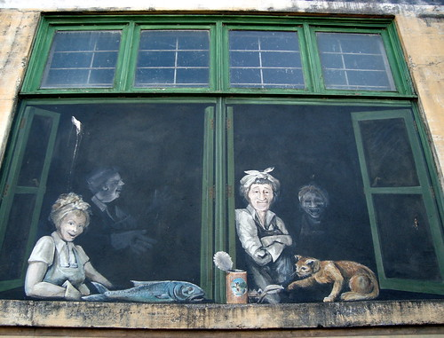 Hogarthian Mural in Alley in Astoria, Oregon | by Rozanne