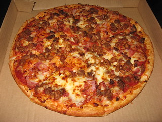Pizza Hut: Meat lover's pizza | by yummyinthetummyblog