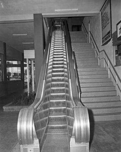 Sheridan Village Escalator 1955 Escalator At Sheridan