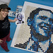 Zilly Rosen of ZILLYCAKES in Buffalo, NY, builds a likeness of presidential candidate Barack Obama using 1240 cupcakes.