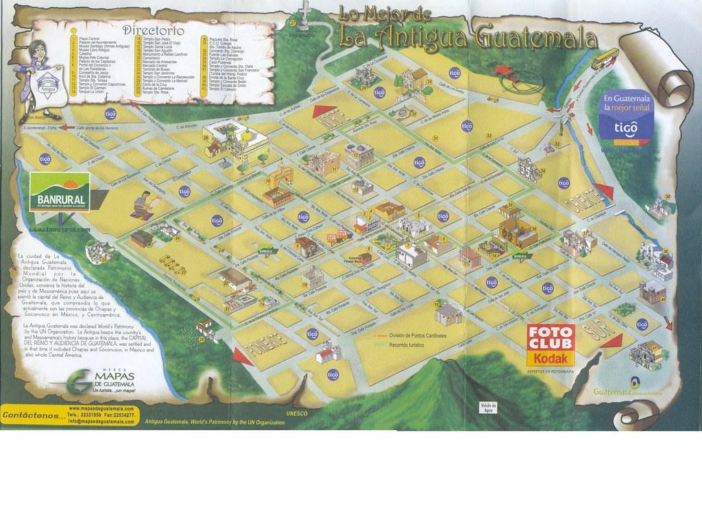 Mapa De Antigua Guatemala James Montiel Viesca Flickr