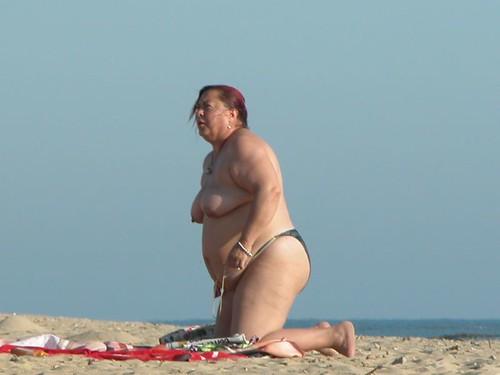 Topless hidden camera