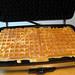 Waffle iron open