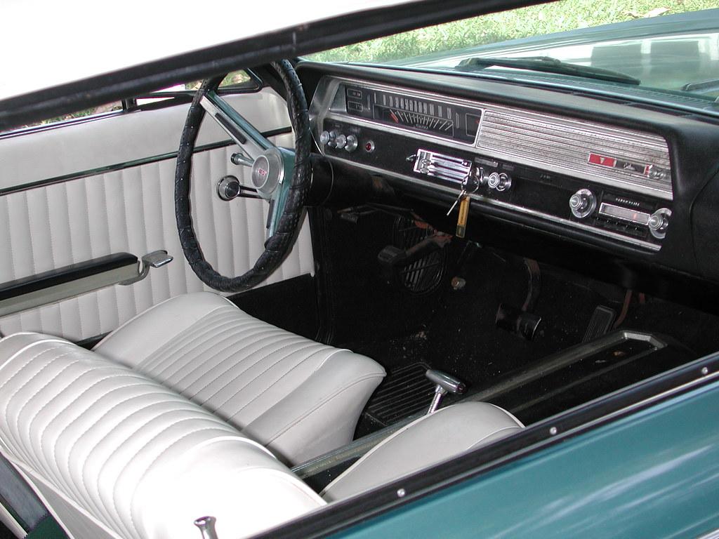 Oldsmobile F 85 Cutlass Convertible Interior Shot Of