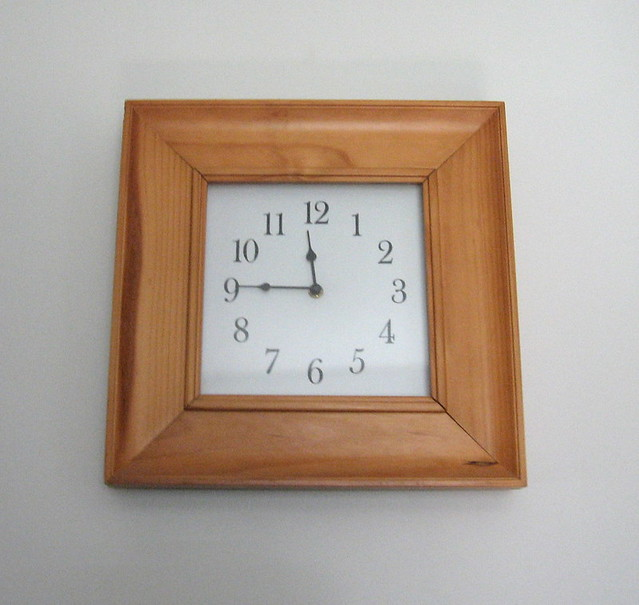 square real wood clock real wood things are hard