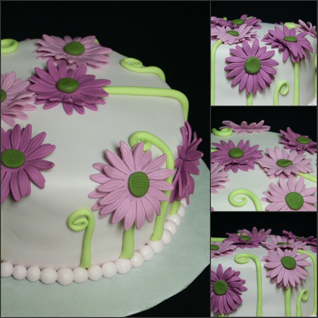 Fuchsia Gerbera Daisy Cake Another Version Of The Cake I