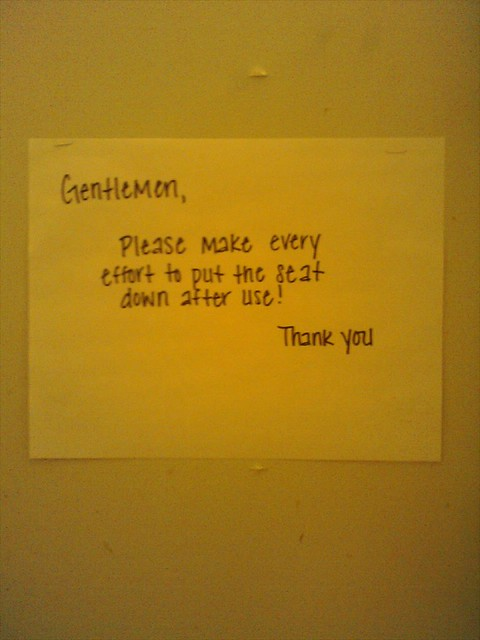 Toilet Seat Sign Whenever I See A Note Like This In An