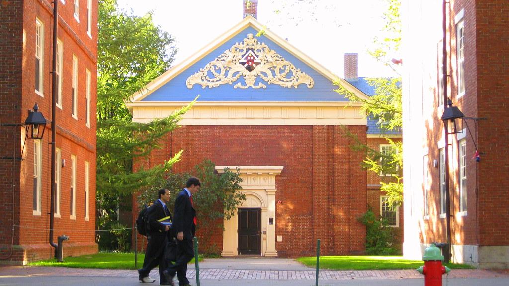 Holden Chapel Off Old Harvard Yard Between Hollis Hall And