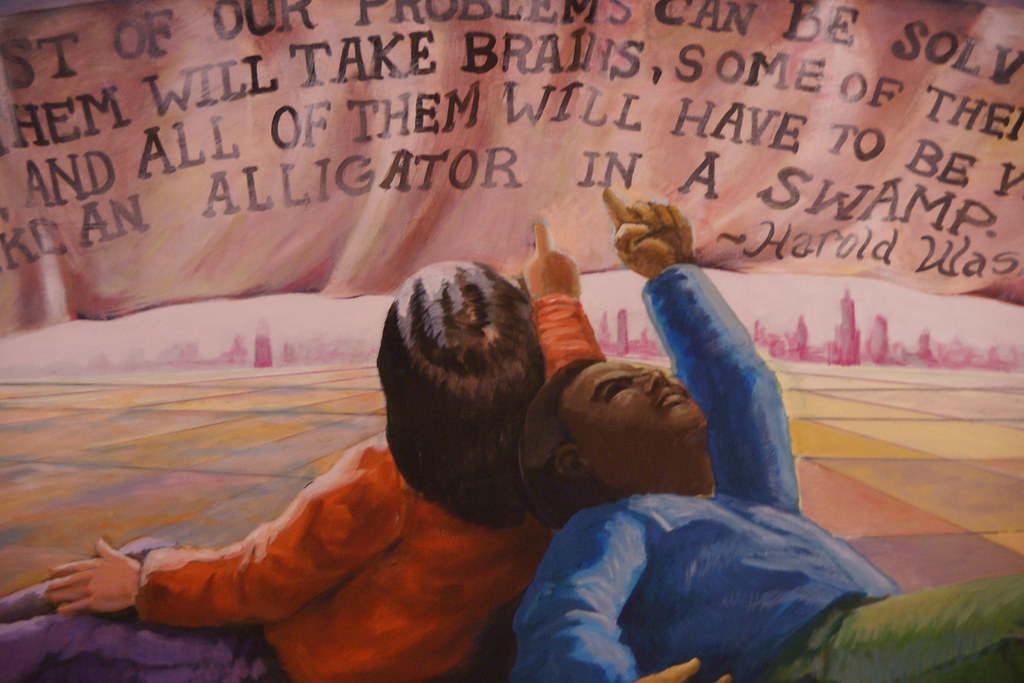 Harold Washington Library Mural A Panel Of Communidad
