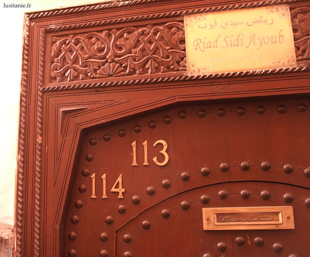 Porte de Riad à Marrakech