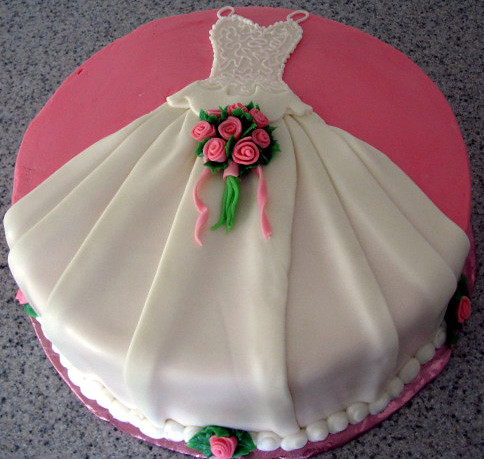 wedding dress cake round cake draped with white chocolate