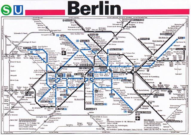 Berlin s Bahn u Bahn Netz Berlin u S-bahn Map