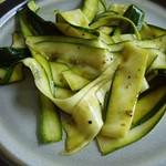 Zucchinisalat, mariniert