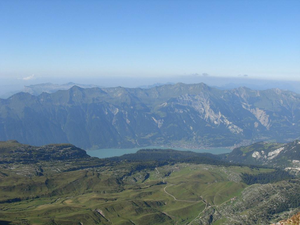 Lac de brienz vu depuis le sommet du faulhorn copetan - Lac de brienz ...