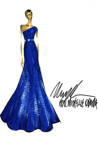 Michael Kors For Michelle Obama S Dress Sketch Sharonda