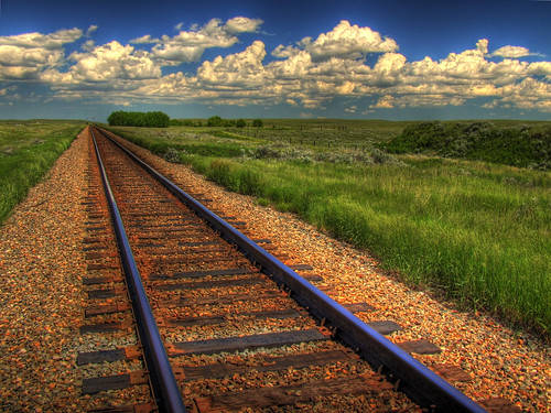 Blue Sky on Rails | by ecstaticist