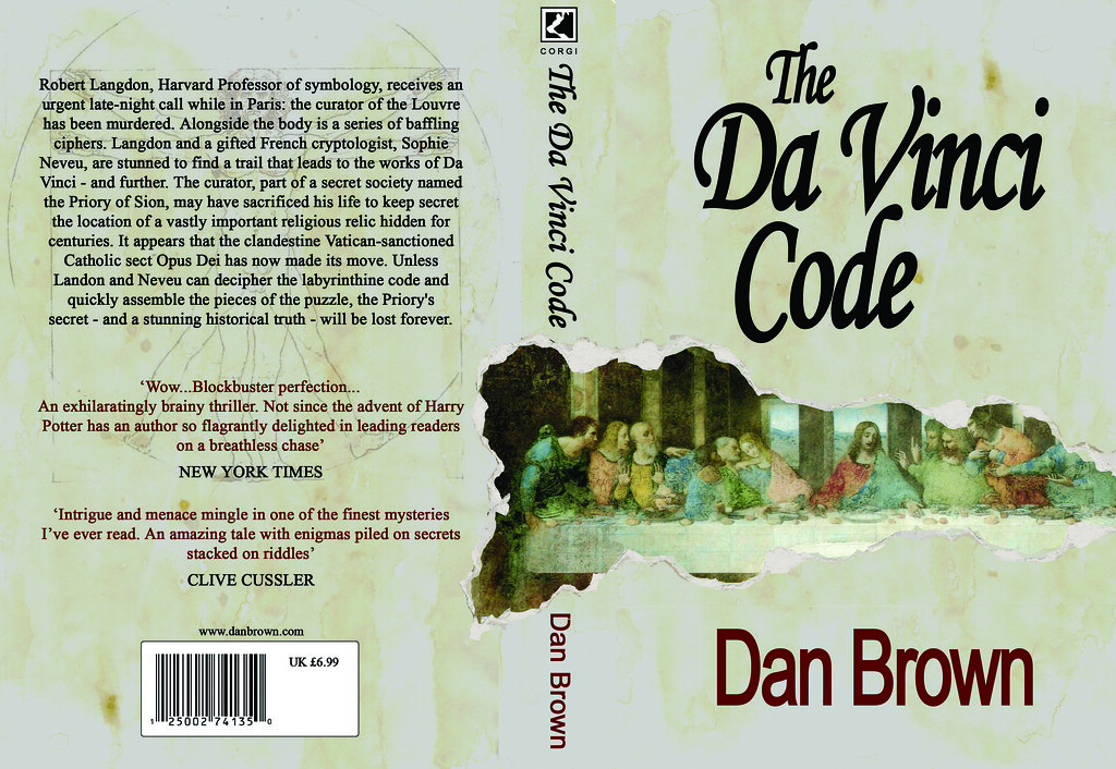Book Cover Design Requirements : My the da vinci code book cover design for