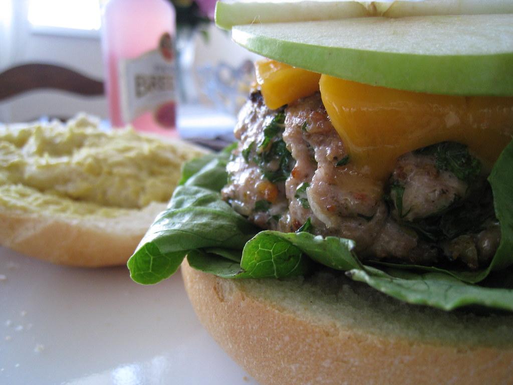 Apple-Cheddar Turkey Burgers | Mack Male | Flickr