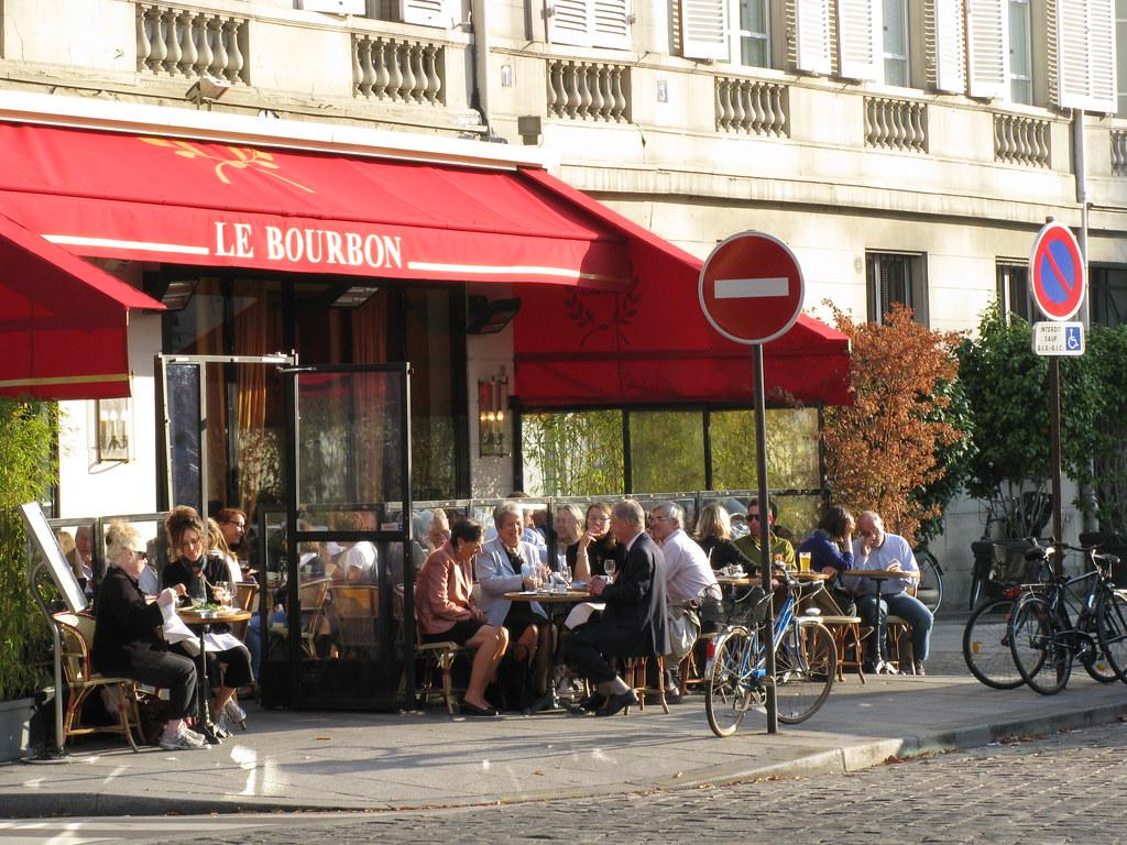 paris brasserie le bourbon situated across the street fr flickr. Black Bedroom Furniture Sets. Home Design Ideas