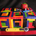 Quilt of many colors cake