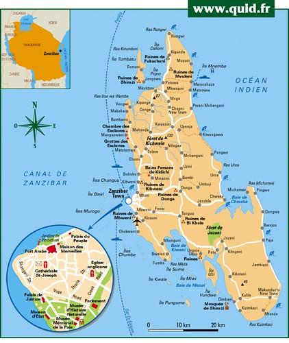 Carte Zanzibar | imvt