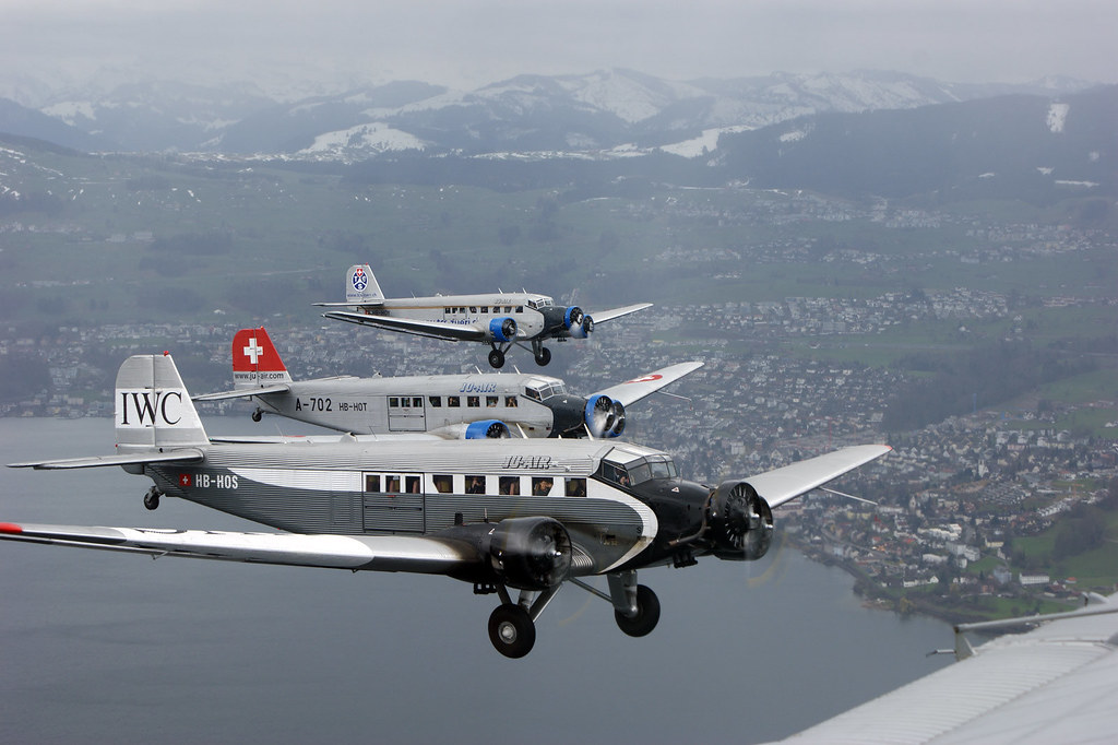 Ju 52 Hb Hop Ju Air Ju 52 Ju Air Switzerland Tante Ju