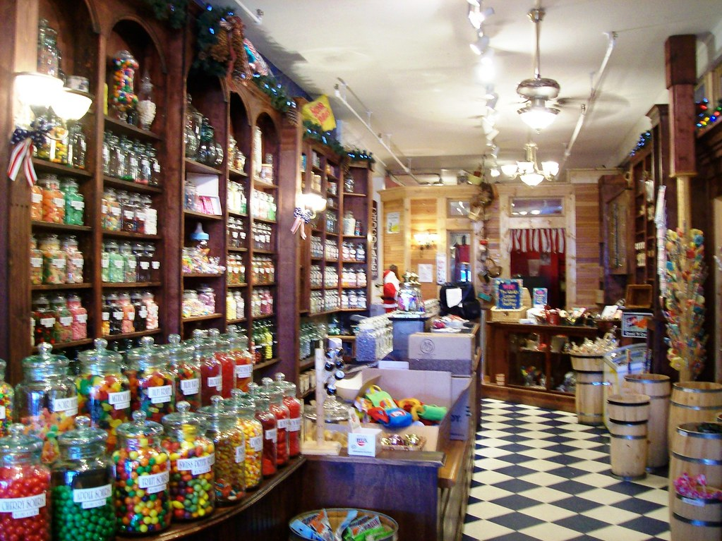 Fully stocked penny candy store at the logging town of mcc for Old fashioned general store near me