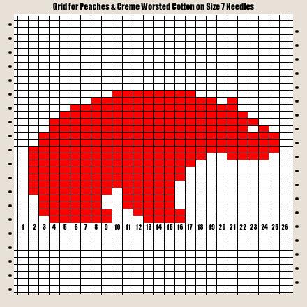 polar-bear1 polar bear knitting chart designed for