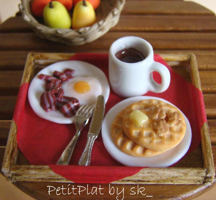 Miniature food - American Breakfast