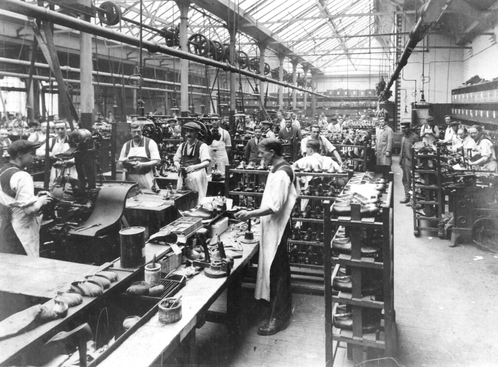 Photograph C Amp E Lewis Factory Northampton Late 19th Ce