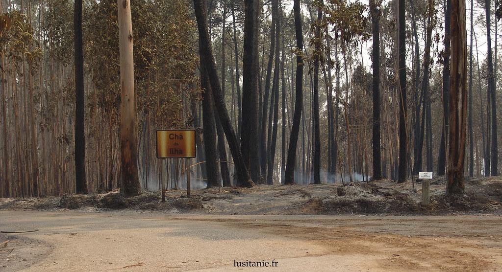 La plaque avec le nom du village a souffert de lincendie