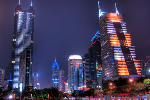 Shenzhen City Central (Shun Hing Square : Diwang Tower, on left) | by arjalvaran