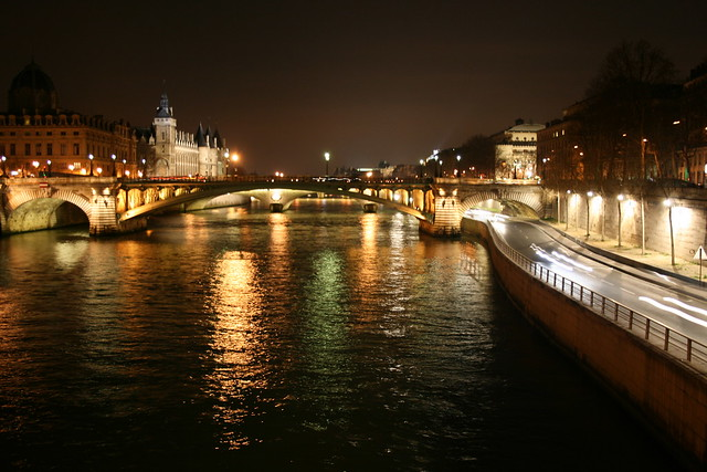 Seine At Night  View Of The Seine River Paris At Night V  Flickr