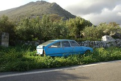Old Citroen & Olive Grove, Mani
