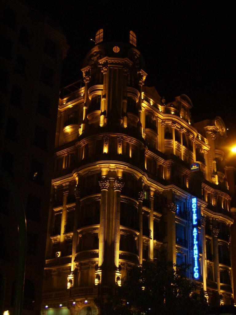 Hotel Atl Ntico Foto Tomada Desde La Gran V A De Madrid