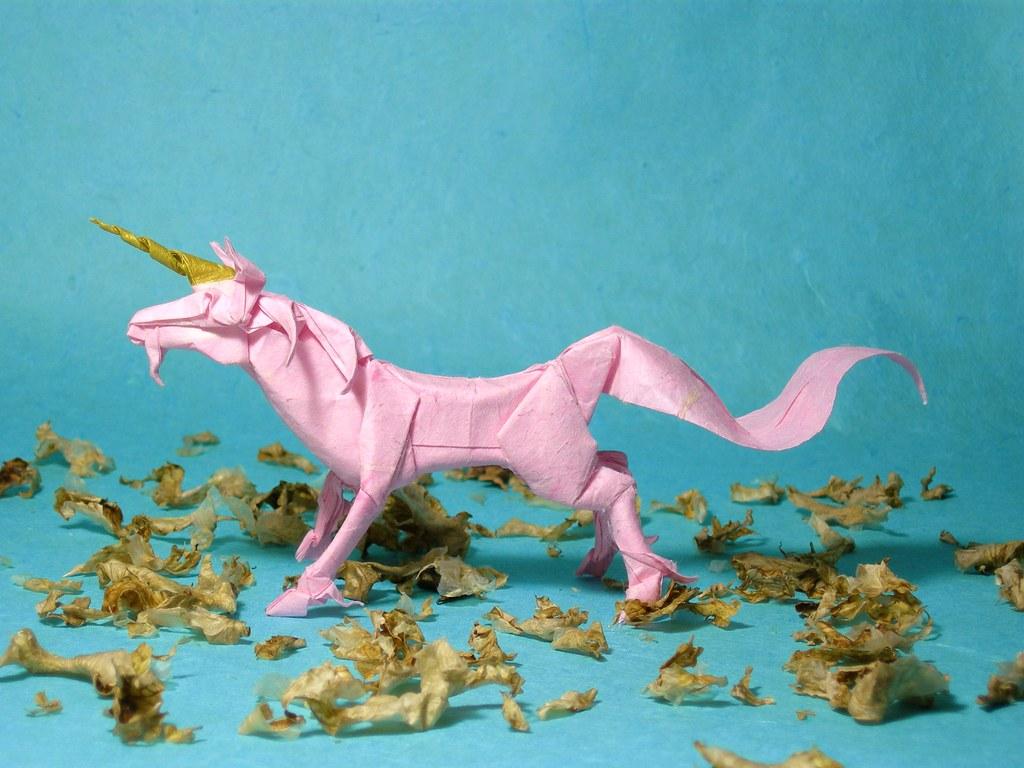 Unicorn Designed By Satoshi Kamiya Folded From 3535cm Han