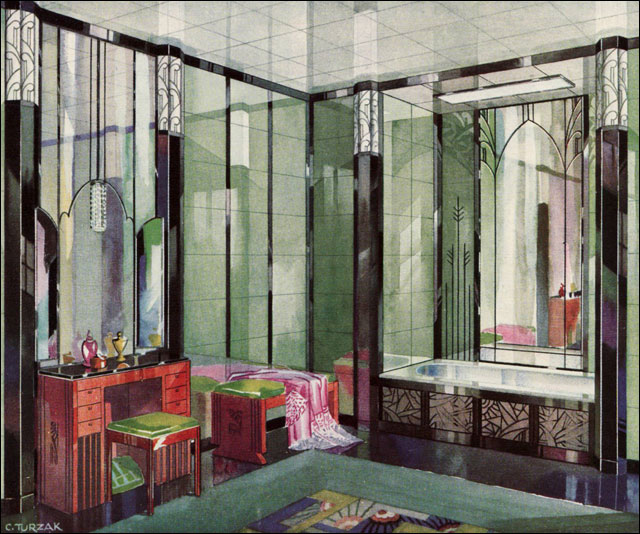 1929 vitrolite deco bathroom published in american home a flickr. Black Bedroom Furniture Sets. Home Design Ideas