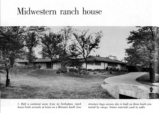 Cliff May Vintage Image Name Midwestern Ranch House