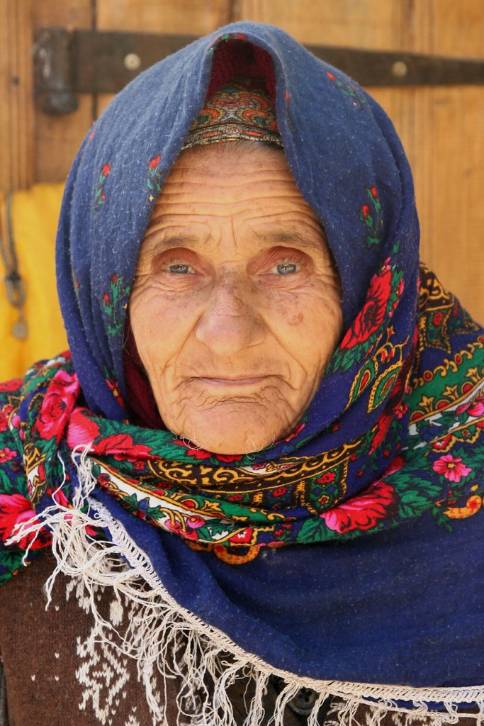 Azerbaijan Old Woman In Lahic Azerbaijan Lahic Is A