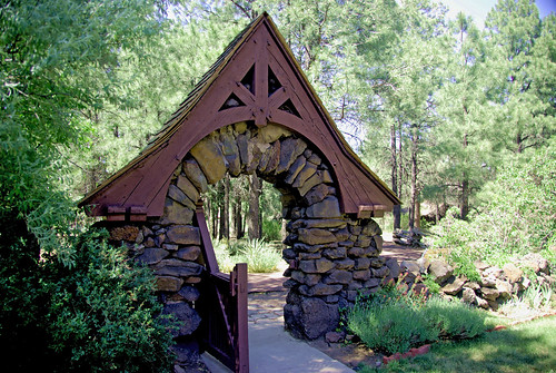 Riordan Mansion Gate Flagstaff Arizona Flickr Photo