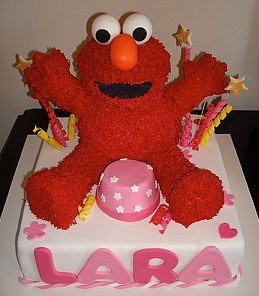 how to make elmo ice cream cake